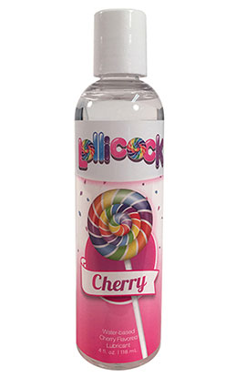 Lollicock Cherry Wb Flavored Lubricant 4 Oz