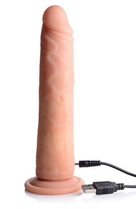 BIG SHOT 8 INCH ROTATING RECHARGEABLE LIQUID SILICONE DONG WITHOUT BALLS