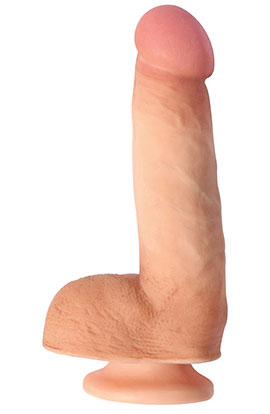 6 Inch Vanilla Dildo With Suction Cup.