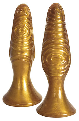 The Pawns - Gold, Whimsically Textured Anal Plug Gold.