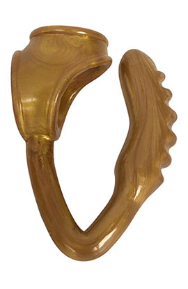 The Duke - Gold, Curved Anal Plug Gold.