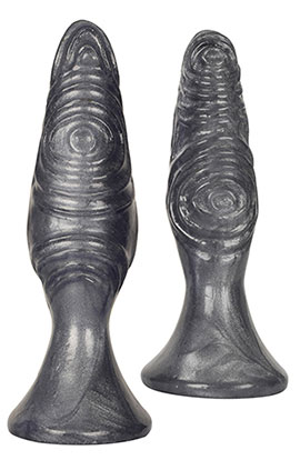 Royal Hiney Red The Pawns - Silver, Whimsically Textured Anal Plug Silver.